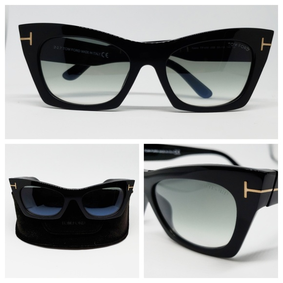 0510bfe73f9 Tom Ford Cat Eye Sunglasses Black Gradient